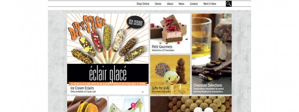 Cacao Responsive Website Design – Home page