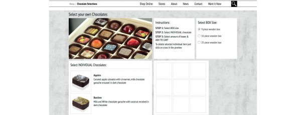 Cacao Responsive Website Design – Custom coded Chocolate Selector